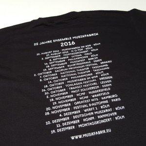 T-Shirt 25 Jahre Ensemble Musikfabrik