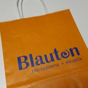 Papiertasche Blauton