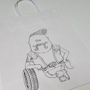 Papiertasche Dude