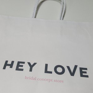 Papiertasche Hey Love