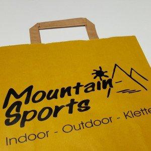 Papiertasche Mountain Sports