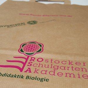 Papiertasche Rostocker Schulgarten Akademie