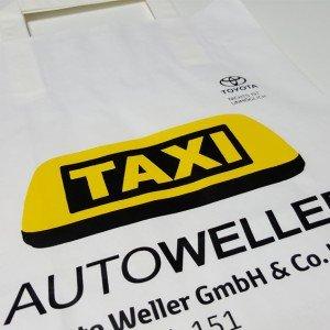 Papiertasche Taxi Autoweller