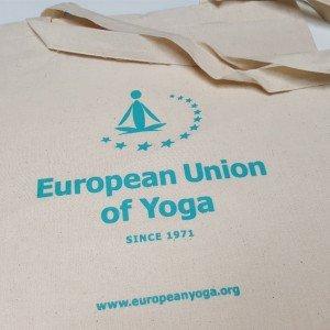 Baumwolltasche European Union of Yoga